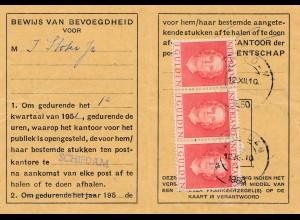 Niederlande:1950: Bewijs van Bevoegdheid voor het Afhalen van Stukken,Schiedham
