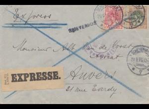 Niederlande: 1915: Express Scheveningen nach Anvers