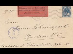 Niederlande: 1916: Rotterdam nach Berlin, Zensur, Censor