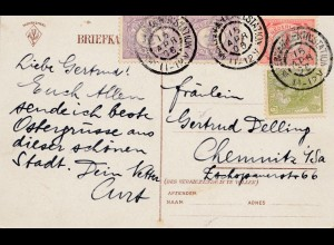 Niederlande: 1906: Ansichtskarte Amsterdam nach Chemnitz - de Beurs