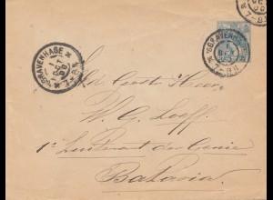 Niederlande: 1900 Gravenhage nach Batavia