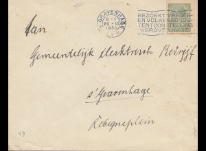 Niederlande: 1930: Gravenhage Ortsbrief