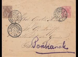Niederlande: 1901: Gravenhage nach Pantiank - Ganzsache
