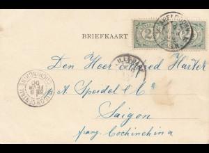 Niederlande: 1900: Ansichtskarte Rotterdam nach Saigon