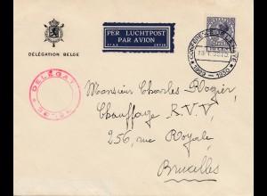 Niederlande: 1930: Lufptost Converence de la Haye - nach Belgien