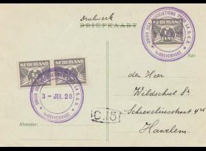 Niederlande: 1928: Gravenhage nach Haarlem, Union pour la S.d.N.