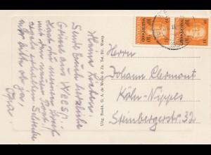 Niederlande: 1953: Ansichtskarte Weesp nach Köln