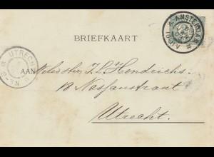 Niederlande: 1903: Amsterdam nach Utrecht Gouden en Zilveren