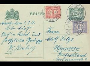 Niederlande: 1914: Briefkaart Amsterdam nach Hannover
