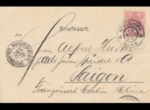 Niederlande: 1900: Apeldoorn nach Saigon - Ansichtskarte