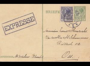 Niederlande: 1929: Express Utrecht - Ganzsache