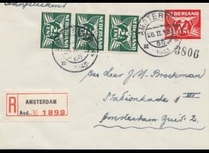 Niederlande: 1943: Einschreiben Amsterdam Ortsbrief