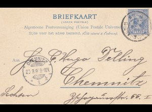 Niederlande: 1897: Delft, nette Ansicht nach Chemnitz