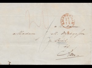 Niederlande: 1849: Amsterdam nach Bonn - mit Textinhalt