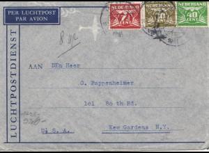 Niederlande: 1941: Luftpost nach USA: OKW Zensur