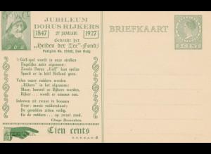 Niederlande: 1927: Ganzsache Jubileum Dorus Rijkers