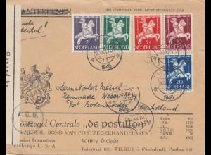 Niederlande: 1946: Tilburg nach USA - Zensur