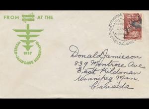 Niederlande: 1937: Brief nach Canada