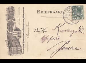 Niederlande: 1927: Bergen Briefkaart