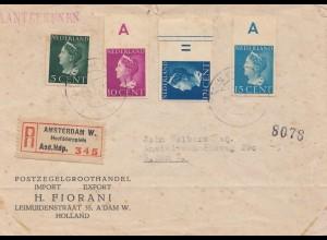 Niederlande: 1912: Einschreiben Amsterdam Ortsbrief