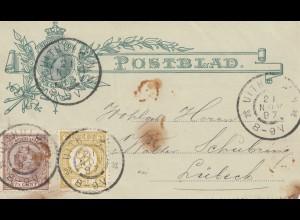 Niederlande:1897 Uithui nach Lübeck