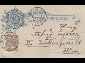 Niederlande:1904: Ganzsache Scheveningen nach Wien