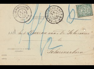 Niederlande: 1908: Briefkaart Schermerhorn Postkarte