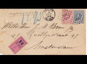 Niederlande: 1889: Tholen nach Amsterdam - Einschreiben