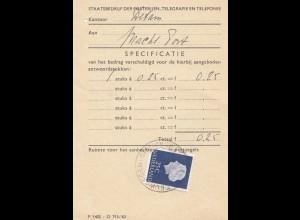 Niederlande: Staatsbedrijf der Posterijen, Telegrafie en Telefonie