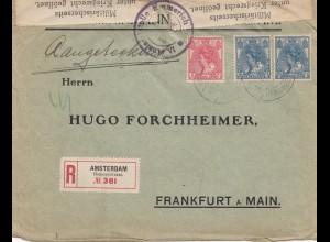 Niederlande: 1916: Einschreiben Amsterdam nach Frankfurt - Zensur