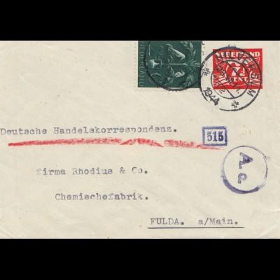 Niederlande: 1944: Hilversum nach Fulda - OKW Zensur