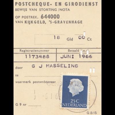 Niederlande: 1966: Postcheque en Girodienst