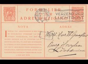 Niederlande: 1926: Gravenhage - Ganzsache - Adreswijziging