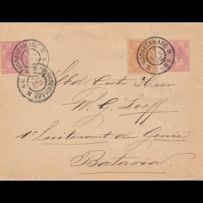 Niederlande: 1900 Ganzsache Gravenhage nach Bataria