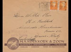 Niederlande: 1951: Amsterdam - Mal dirigé sur la Suéde