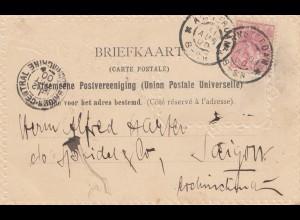 Niederlande: 1900 Briefkaart Amsterdam nach Saigon