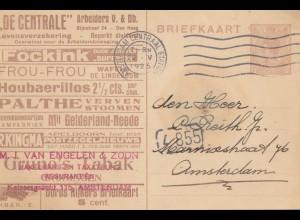 Niederlande: 1925: Ganzsache Amsterdam Ortskarte