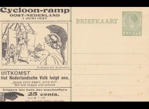 Niederlande: 1927: Ganzsache Cycloon ramp
