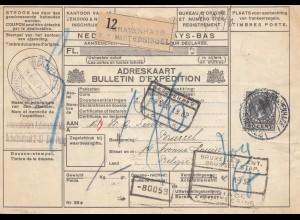 Niederlande: 1932: Paketkarte nach Belgien