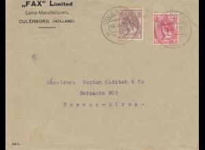 Niederlande: 1921: Culenborg nach Buenos Aires