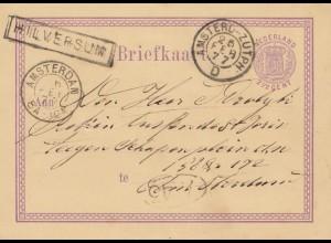 Niederlande: 1877: Ganzsache Amsterdam