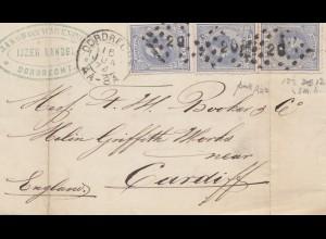 Niederlande: 1874: Dordrecht nach Cardiff/England