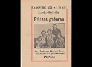 Niederlande: 1947: Prinses Marijke Gravengager per vliegmachine uitgeworpen