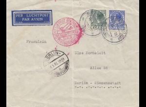 Niederlande: 1931: Luftpost Rotterdam - Berlin: