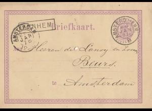 Niederlande: 1878: Ganszcache Amsterdam Ortskarte
