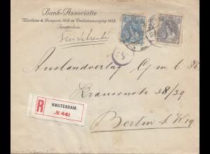Niederlande: 1919: Einschreiben Amsterdam nach Berlin