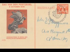 Niederlande: 1938: Ganzsache Dag van den Postzegel