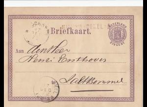 Niederlande: 1872: Ganzache - Briefkaart