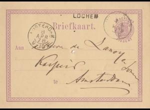 Niederlande: 1878: Ganzsache nach Amsterdam