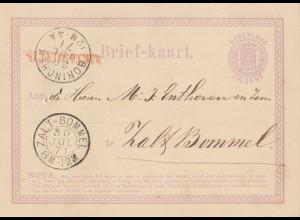 Niederlande: 1871: Ganzsache nach Bommel